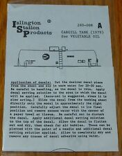 Islington Station Products HO #260-008A Cargill Tank (1979) for Vegetable Oil