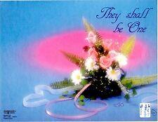 "Wedding Bulletin Pink, Blue, Flowers, Ribbon 8 1/2"" x 11""  PACK OF 50"