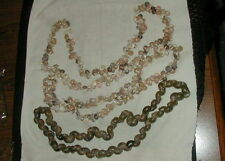 3 VINTAGE SEA SNAIL SHELL, MINI CONCH SHELL NECKLACES, 32 TO 39 INCHES