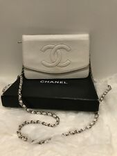 Authentic White Chanel Wallet On Chain WOC Crossbody Handbag *Classic*