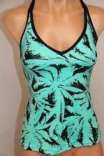 NWT JAG swimsuit bikini tankini top Size XS Green Criss Cross Back