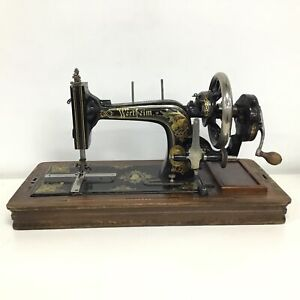 Vintage Wertheim Sewing Machine With Cover and Key #209 ***PICK UP ONLY #