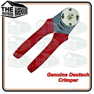 AUSTRALIAN STOCK DEUTSCH CRIMPING TOOL CRIMPERS DEUTSCH PINS PLUGS 4 WAY RATCHET