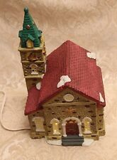 TRIM A HOME SNOWY VILLAGE CHURCH 1996