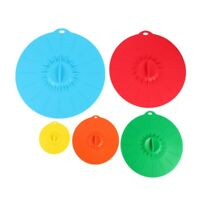 Set of 5 silicone Microwave bowl cover cooking pot pan lid Cover-Silicone foY9T5
