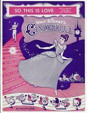 1949 So This Is Love from Cinderella Scarce Sheet Music Walt Disney