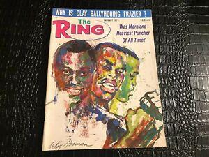 JANUARY 1970 THE RING vintage boxing magazine - MARCIANO hardest puncher ?