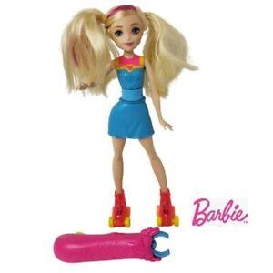 Barbie Dolls Barbie Video Game Hero Light Up Skates Authentic Barbie Doll.