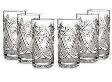 Set of 6 Russian Tea Glasses for Holder Podstakannik 11 oz – Soviet Cut Crystal