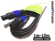 1m-10m Speaker PA Lead Cable PA Sound System Amplifier Lead 2 Pole DJ SPK Stage