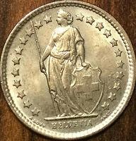 1962 SWITZERLAND SILVER 1/2 FRANC HELVETIA COIN PIÈCE DE SUISSE - Uncirculated