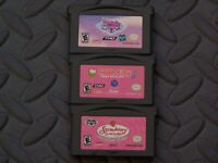 Lot Nintendo Game Boy Advance GBA Games My Little Pony + Hello Kitty +Strawberry