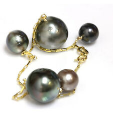 "Tahitian South Sea Pearl  Bracelet 7"" 14k yellow gold"