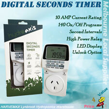 Digital Seconds Timer Build in battery Interval Hydroponic Grow Light Water Pump