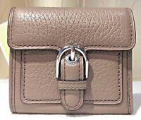 Authentic Michael Kors MK Cooper Trifold Buckle Wallet Leather Cinder New $88