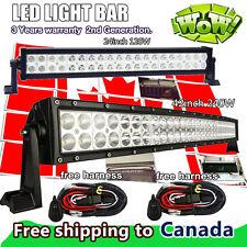 "42 inch LED Light Bar Curved + 24"" LED Work Light Bar SUV ATV UTE Jeep Truck 40"""