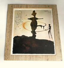 Salvador Dali bible vintage gold encrusted art 11x14 natural fiber matted