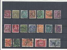 Imperio alemán, 1921 números de Michel: 158 - 176 o, con sello o, michel valor 75,00 €