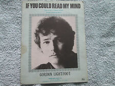 Recorded by Gordon Lightfoot  IF YOU COULD READ MY MIND LOVE  Sheet Music