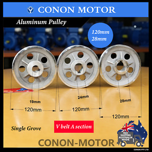 Pulley 120mm shaft size 28mm single groove electric motor V A section belt wheel