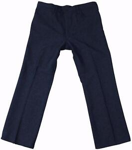 VTG 80s WRANGLER Poly JEANS 38 x 30 Tag Blue Boot Cut Straight Leg Made In USA!