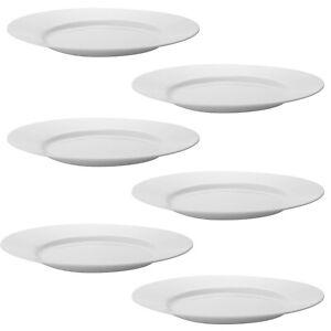 Luminarc 18 Pcs White Opal Glass Dining Plates Dinner Set Dinnerware Tableware