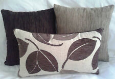 "3 x Scatter Cushion Covers -3 tones of Brown 40cm(16"") or 45cm (18"").& 50x30cm"