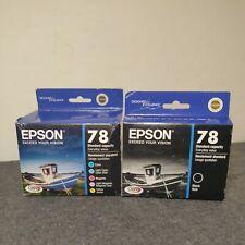 Genuine Epson 78 Black & Colors Set 6 Sealed Ink Cartridges Exp