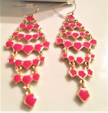 Avon Signature Collection Summer Getaway Pink Gold Chandelier Dangle Earring New