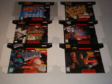 Street Fighter Alpha 2 More Super Nintendo SNES Boxes FOR DISPLAY ONLY PROMO