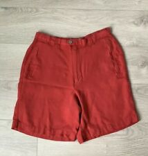 Tommy Bahama Shorts Women's Size 2 Red Pleated Front 100% Silk