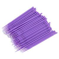 100 x Easy Disposable Eyelash Brush Mascara Wands Lash Extension Applicator U FP