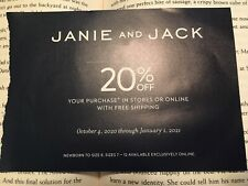 JANIE AND JACK 20% Off Shipping COUPON Expires January 1, 2021