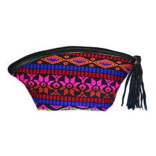 Indian Small Cotton Handmade Zipper Case Makeup Clutch Bag Purse