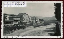 NICE. Alpes-Maritimes . bord du Paillon .  photo ancienne . 1947