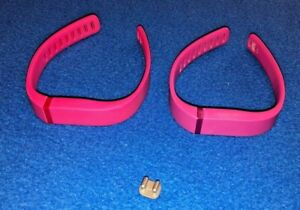 Fitbit Flex Rubber Wrist Bands Pink and Magenta With One Clip