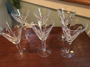 """WATERFORD CRYSTAL SET OF 6 Sheila CLARET WINE GLASSES 6.5"""" EXCELLENT"""