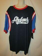 mens akademiks baseball t-shirt 3XL nwt stadium league blue