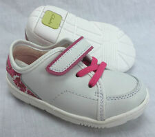 Clarks Leather Baby Trainers with Hook & Loop Fasteners