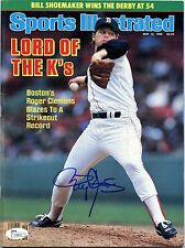 ROGER CLEMENS 5/12/86 Sports Illustrated SI Newsstand No Label JSA AUTOGRAPH