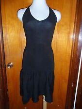 Victoria's Secret Black Halter Fit & Flare Ribbed Drop Waist Sweater Dress S New