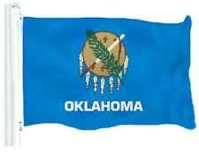 G128 - Oklahoma State Flag 3x5 ft Printed Brass Grommets 150D Quality Polyester