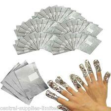 100 x Nail Art Soak Off Remover Polish Acrylic Removal Foil Wraps