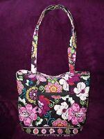 "Vera Bradley Signature Cotton ""Pink Mod Floral"" Print Bucket Tote"