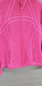 Lululemon Pink Jumper/jacket Size 16