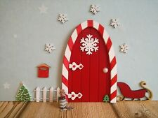 Christmas fairy elf door, sleigh Snowflakes,elf props, put on the shelf