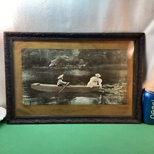 Vtg 1900 Victorian A.P.  Yates WATER LILIES Philadelphia Inquirer Photo Print