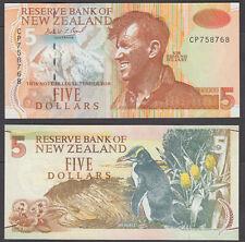 New Zealand 5 Dollars 1992-97 (AU) CRISP Banknote P-177