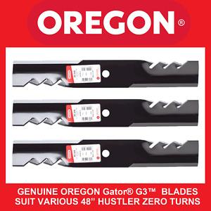 """HUSTLER 48""""  BLADES - GENUINE OREGON Gator® G3™  SUITS VARIOUS MODELS"""