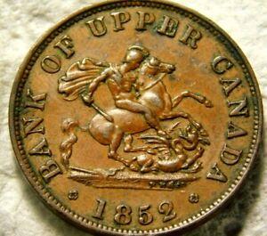 Canada : 1852 Bank of Upper Canada Half Penny Token  59-913